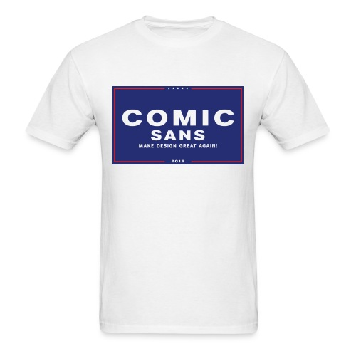 Comic Sans - 2016 - White - Men's T-Shirt