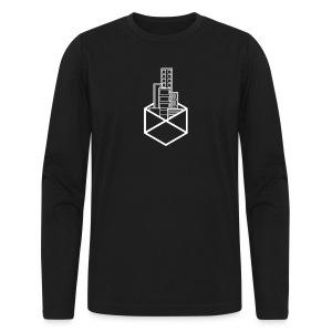 Horizon Original City-Scape T-shirt [WHITE LOGO] - Men's Long Sleeve T-Shirt by Next Level
