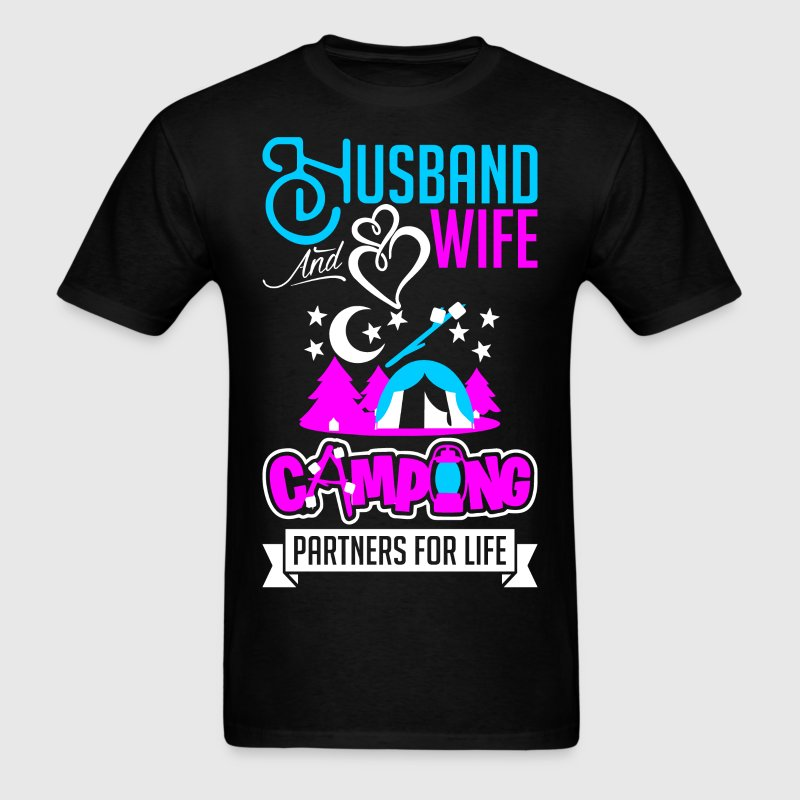 Husband And Wife Camping Partners For Life T-Shirts - Men's T-Shirt