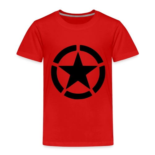 red t shirt with star - Toddler Premium T-Shirt