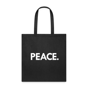 Peace small tote | black - Tote Bag
