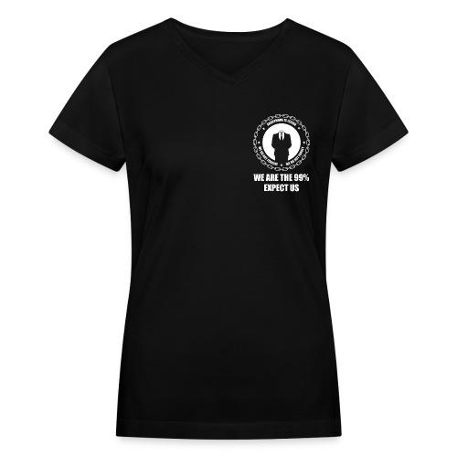 Anonymous 6 White - Women's V-Neck T-Shirt
