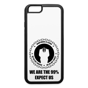 Anonymous 6 Black - iPhone 6/6s Rubber Case