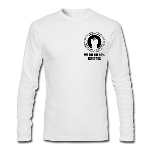Anonymous 6 Black - Men's Long Sleeve T-Shirt by Next Level
