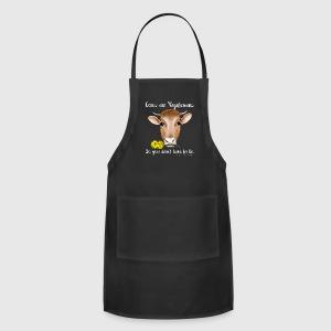 Cows are Vegetarians Design - Adjustable Apron