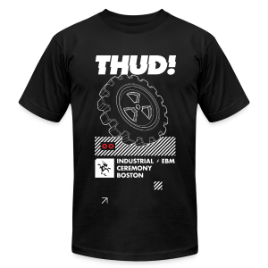 THUD! 20 - design by Dustrial - Men's T-Shirt by American Apparel