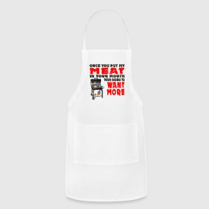 Once you put my Meat in Your Mouth Joke BRS 2 Aprons - Adjustable Apron