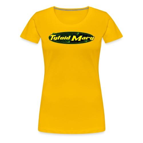 Tyfoid Mary Logo - Ladies Yellow - Women's Premium T-Shirt