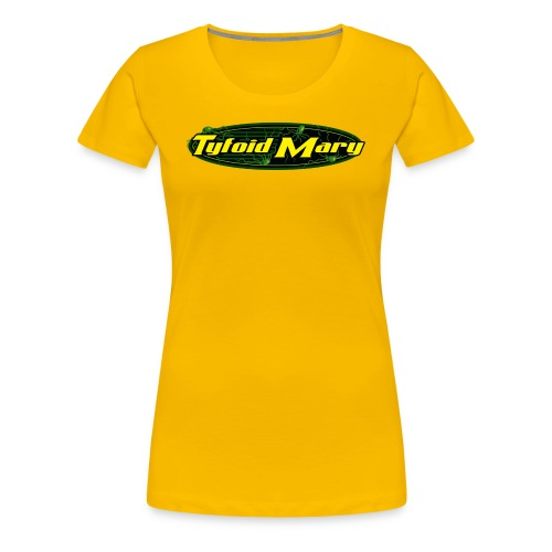 Tyfoid Mary Logo - Ladies Yellow - Women's Premium T-Shirt