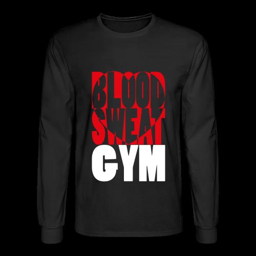 Blood Sweat Gym LOVE easy - men´s - Men's Long Sleeve T-Shirt