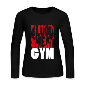 Blood Sweat Gym LOVE easy - women´s - Women's Long Sleeve Jersey T-Shirt