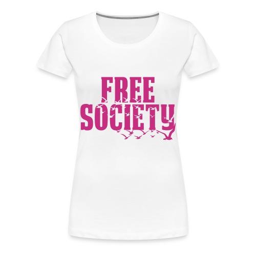 Glittery Pink Birds (Women)  - Women's Premium T-Shirt