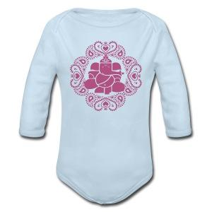 Baby Pink Ganesh Bodysuit  - Long Sleeve Baby Bodysuit