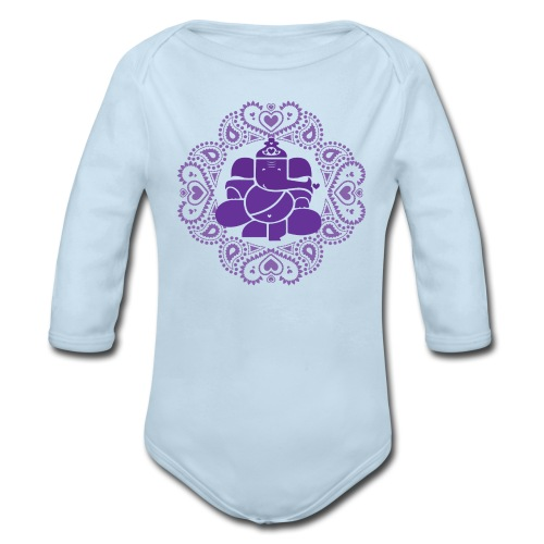 Baby Ganesh Bodysuit  - Organic Long Sleeve Baby Bodysuit