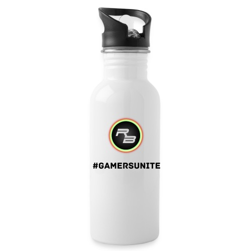 RB_Plays #GamersUnite Water Bottle - White - Water Bottle