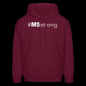 #MSstrong - Men's Hoodie - Men's Hoodie