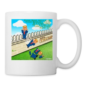 TRUMPTY DUMPTY FALLS FROM HIS WALL - Coffee/Tea Mug