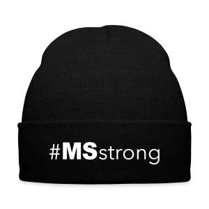 #MSstrong - Knit Cap - Knit Cap with Cuff Print