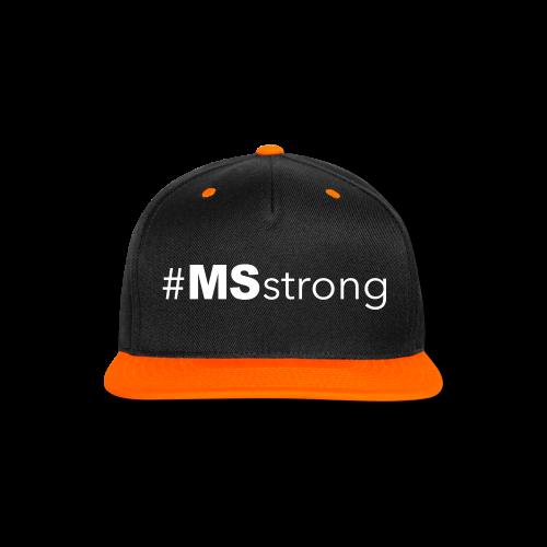 #MSstrong - Baseball Cap - Snap-back Baseball Cap