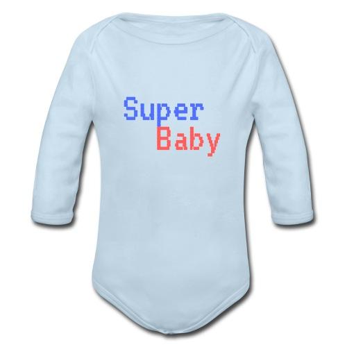 Super Baby Onsie - Organic Long Sleeve Baby Bodysuit