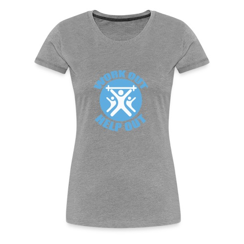 Work Out Help Out Women's Large T-Shirt - Women's Premium T-Shirt