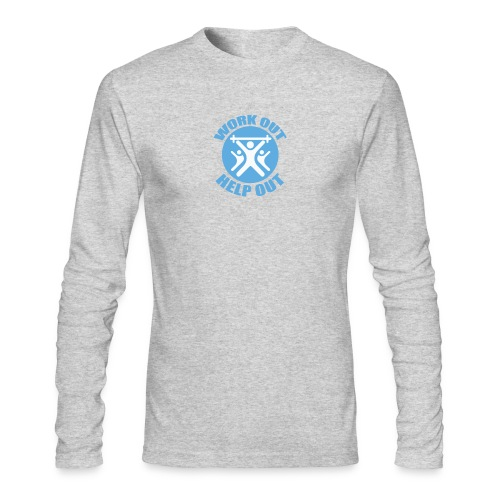 Work Out Help Out Men's Long Sleeve - Men's Long Sleeve T-Shirt by Next Level