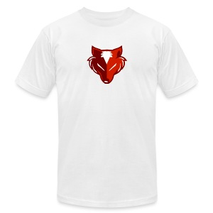 TheRedFox logo T Shirt White - Men's T-Shirt by American Apparel