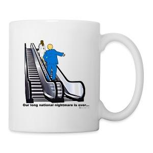 DONALD & MELANIA ON UP ESCALATOR - Coffee/Tea Mug