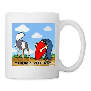 TRUMP VOTERS WITH HEADS IN SAND - Coffee/Tea Mug