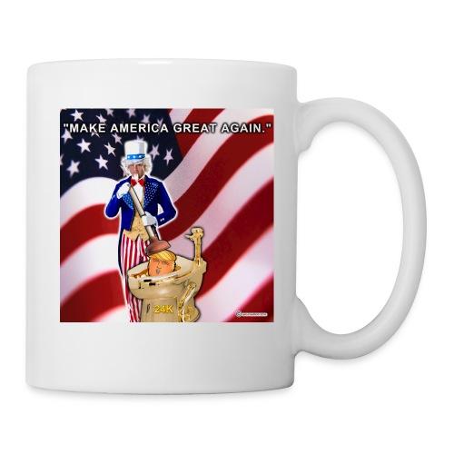 TRUMP IN TOILET - Coffee/Tea Mug