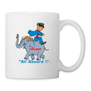 TRUMP ON ELEPHANT - Coffee/Tea Mug