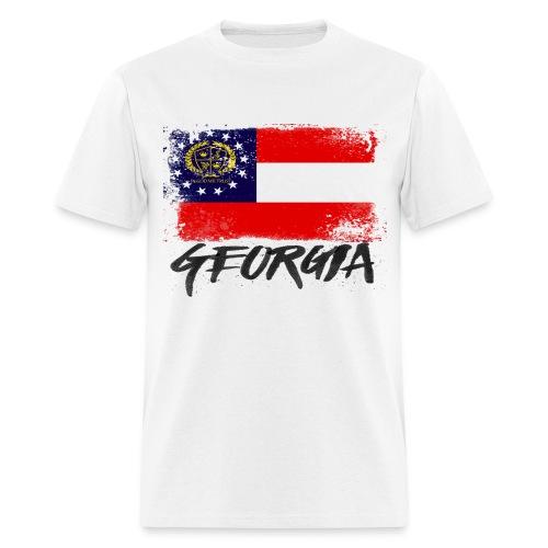 Lenaul Pryor GA flag - Men's T-Shirt