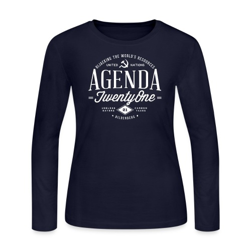Agenda 21 Womens Long Sleeve T-Shirt - Women's Long Sleeve Jersey T-Shirt