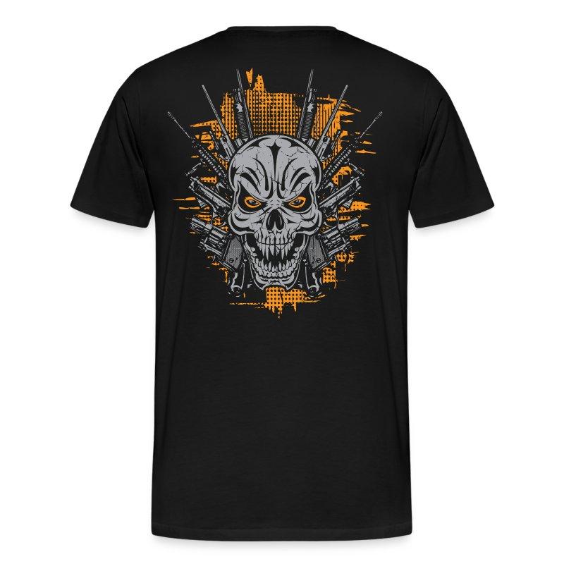 Badass skull tattoo t shirt spreadshirt for Design your own t shirt big and tall