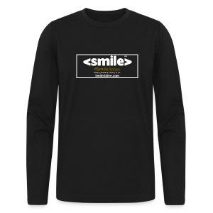 SmileAttire Logo - Black Long Sleeve Shirt (Men) - Men's Long Sleeve T-Shirt by Next Level