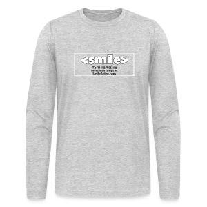 SmileAttire Logo - Gray Long Sleeve Shirt (Men) - Men's Long Sleeve T-Shirt by Next Level