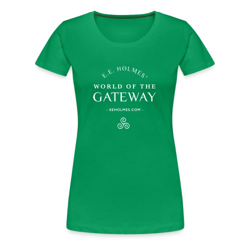 Women's Premium T-Shirt - You already love The Gateway Trilogy. Now you can show your love with an official World of the Gateway t-shirt! Don't just read your favorite books: wear them!