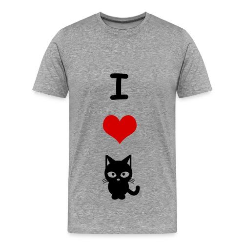 i love cats - Men's Premium T-Shirt