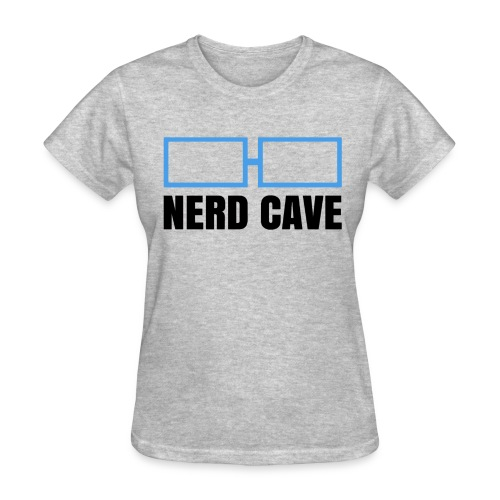 Nerd Cave Logo Gray Shirt - Women - Women's T-Shirt