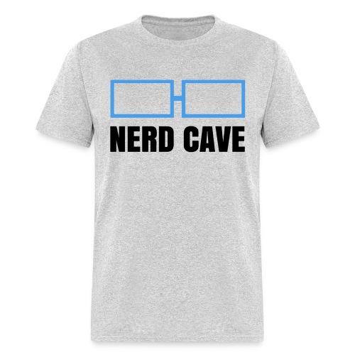 Nerd Cave Logo Gray Shirt - Men - Men's T-Shirt