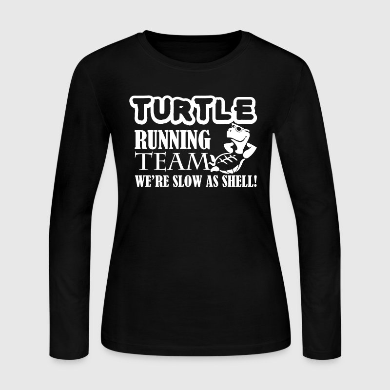 Turtle Running Team Shirt - Women's Long Sleeve Jersey T-Shirt
