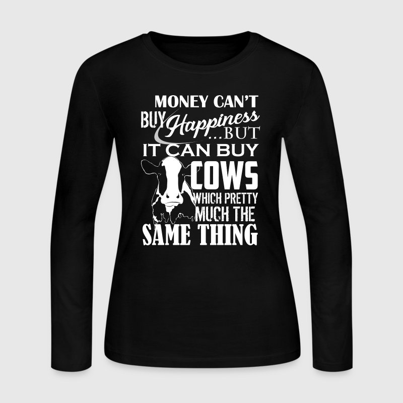 Cows And Happiness Shirt - Women's Long Sleeve Jersey T-Shirt