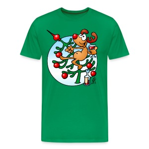 Reindeer in a Christmas tree - Men's Premium T-Shirt