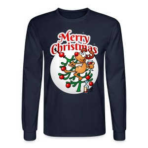Reindeer in a Christmas tree - Merry Christmas - Men's Long Sleeve T-Shirt