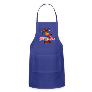 Merry X-mas from Santa Claus and his reindeer - Adjustable Apron