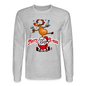 Merry X-mas from Santa Claus and his reindeer - Men's Long Sleeve T-Shirt