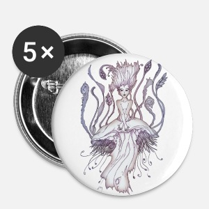 JellyFish Girl small buttons - Small Buttons
