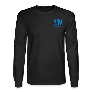 Unisex Cut 100% Cotton Choose Your Color (Black, Navy, White, or Grey) Long Sleeve Tee with Long Quote - Men's Long Sleeve T-Shirt