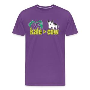 kale (is greater than) cow -Premium Tee - Men's Premium T-Shirt
