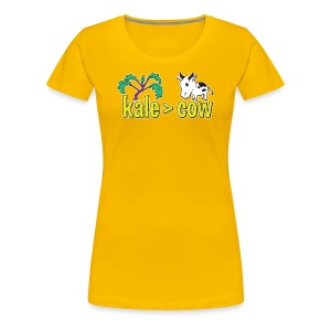 kale (is greater than) cow -Premium Tee - Women's Premium T-Shirt